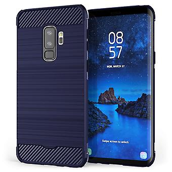 Samsung Galaxy S9 Plus Carbon Anti val TPU Case - Blue