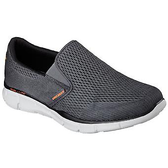 Skechers Mens Equalizer dubbelspel ademende Mesh Fitness Trainers