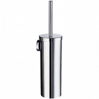 Home Wallmounted Toilet Brush Solid Brass Container - Polished Chrome HK332