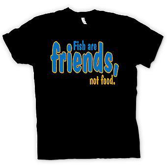 Womens T-shirt - vis zijn vrienden, geen voedsel - grappig citaat