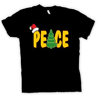 Mens T-shirt - Peace - Cool Christmas
