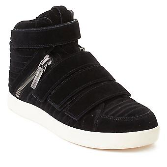 Pierre Balmain mænds ruskind Quad rem Hej Top Sneaker sko sort