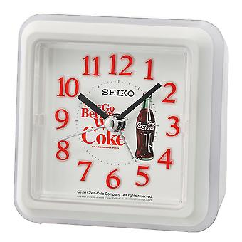 Seiko Coca-Cola Beep Alarm Clock White (Model No. QHE906W)