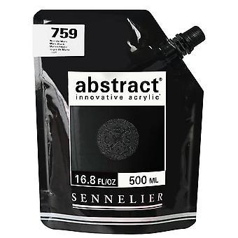 Sennelier Abstract Innovative Acrylic Paint 500ml (759 Mars Black)