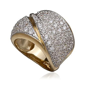 Orphelia Silver 925 Ring Gold  Zirconium   ZR-3604-GOLD