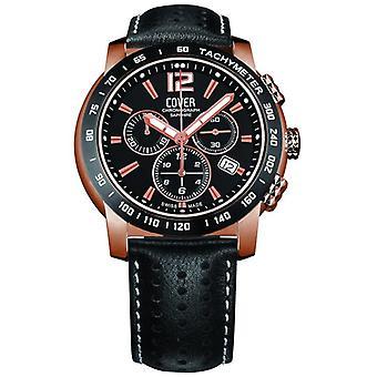 Cover mens watch chronograph Co126. RPL1LBK