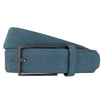 Strellson belts men's belts leather belt Suede Blue 2034
