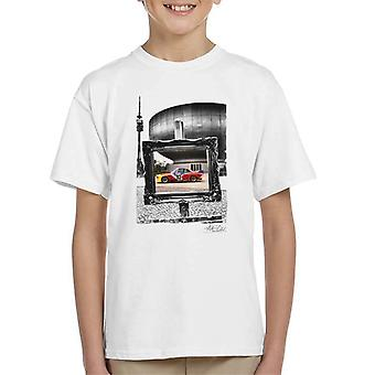 BMW Art Car Calder Black And White Frame Kid's T-Shirt