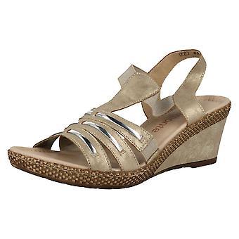 Ladies Remonte Wedge Sandals D0457