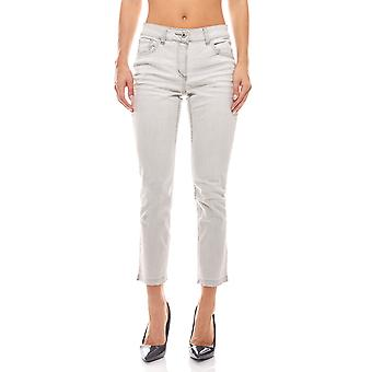 7/8 casual jeans with jagged out leg light grey B.C.. best connections