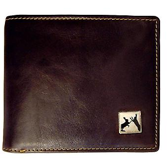 Tyler and Tyler Leather Sparring Hare Bill Fold Wallet - Brown