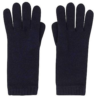 Johnstons of Elgin Short Cuff Gloves - Navy