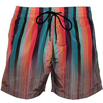 Paul Smith Mixed Signature Stripe Swim Shorts, Multi