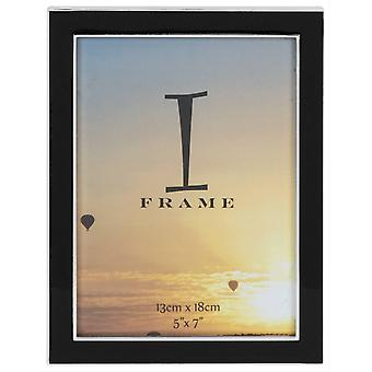 Juliana iFrame Silver Plated Black Epoxy Photo Frame 5x7 - Silver
