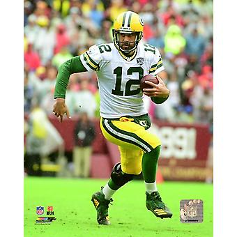 Aaron Rodgers 2018 Action Photo Print