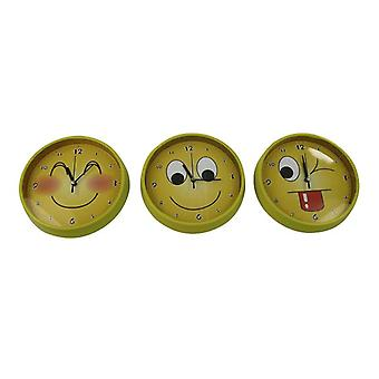 Wall clock smile yellow 18 cm