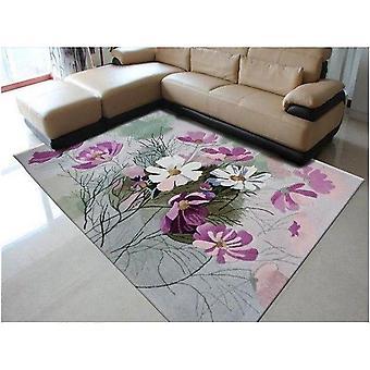 100% Wool Floral Carpet Elegant American Rustic Floral Living Room Rug Modern European Carpets For Living Room Designer Red Rugs