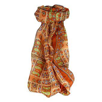 Amoreira cachecol longo tradicional Khosta terracota por Pashmina & seda