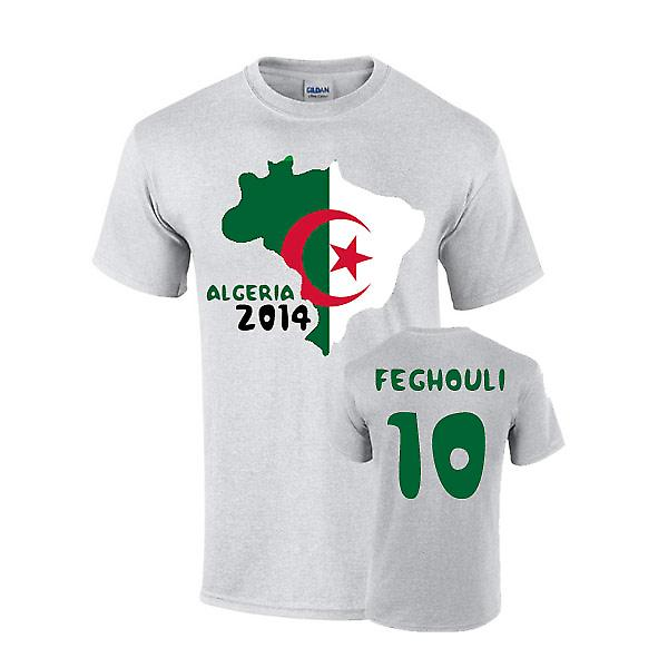 Algerien 2014 Country Flag-T-Shirt (Feghouli 10)