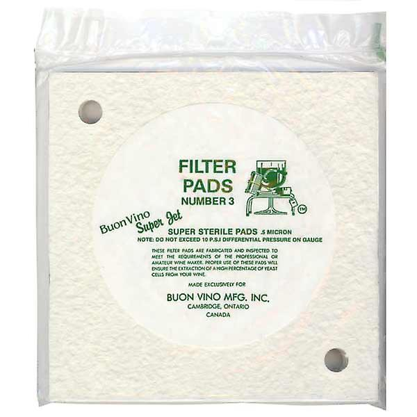 Super Jet Filter pads - Sterile No 3