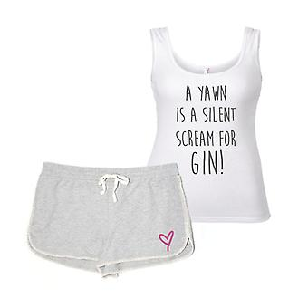 A Yawn Is A Silent Scream For Gin Pyjamas