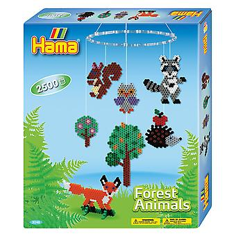 Hama Beads Forest Animals Hanging Mobile Kit