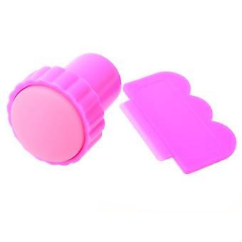 tampon encreur + zéro pour nail art stamping