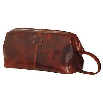Ashwood Leather Highbury Waxed Vintage Seb Wash Bag - Vintage Tan