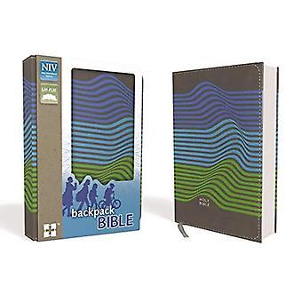 NIV ryggsäck Bibeln, kompakt, Imitation läder, Charcoal/ränder
