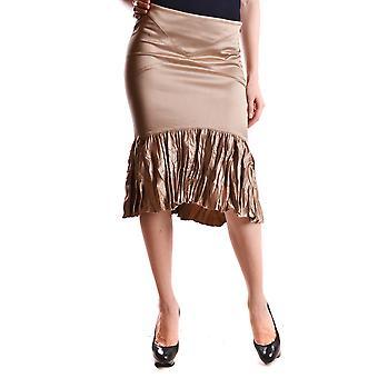 Just Cavalli Beige Polyester Skirt