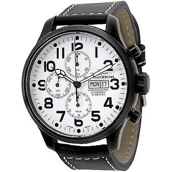 Zeno-watch reloj OS piloto Chrono Basilea Negro 8557TVDD-bk-i2