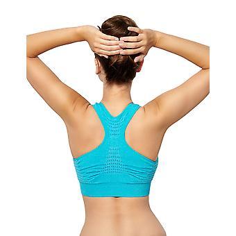 Sans Complexe 56LAC98-GTE Women's Sport Loisir Fresh Blue Sports Bra