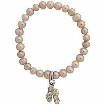 Jo For Girls Pink Freshwater Pearl & Ballet Slipper Charm Bracelet 5
