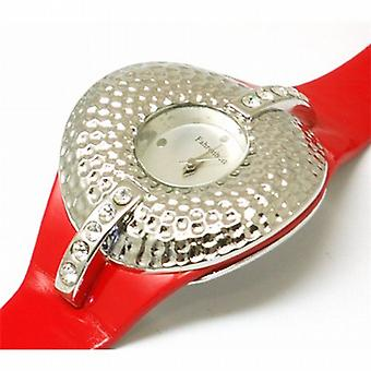 Fahrenheit Ladies Round Fashion Red Strap Watch