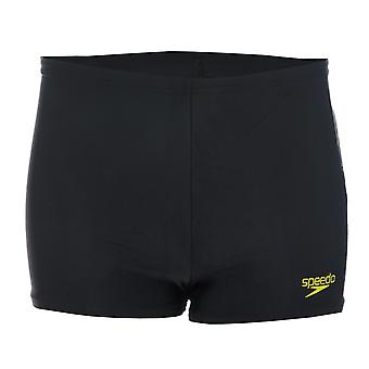 Kleinkind Speedo Logo Panel Aqua Shorts In Black Blue-High Chlor