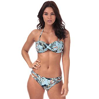 Vrouwen Vero Moda Palm Bandeau bikini top in Cool Blue
