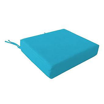Foam Wheelchair Seat Cushion in Cotton Cover - Turquoise