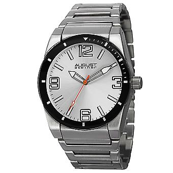August Steiner AS8152SSW Classic Stainless Steel And Sport Watches
