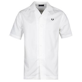 Fred Perry Revere colarinho manga curta camisa branca