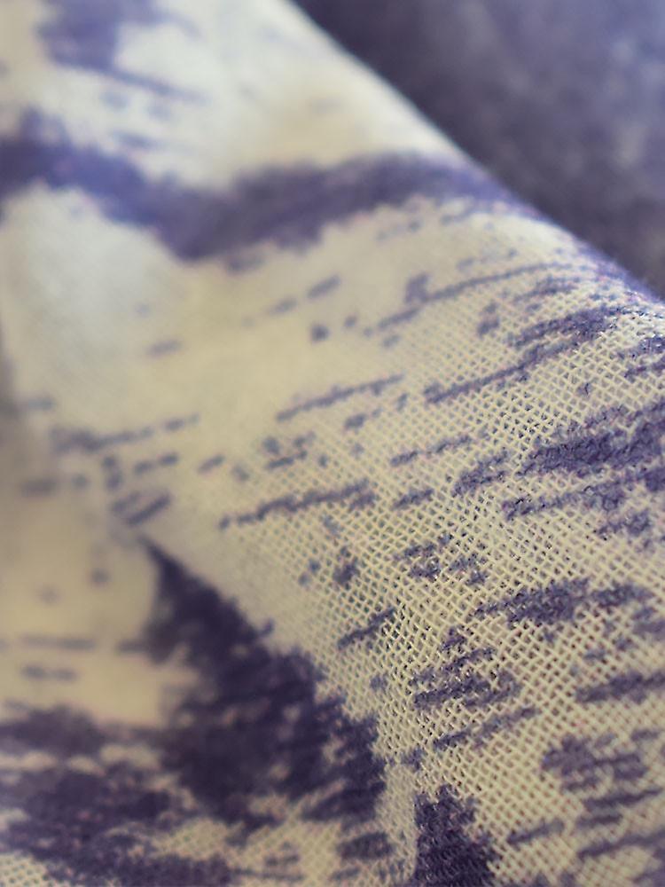 Vintage nautical cotton blend scarf – purple