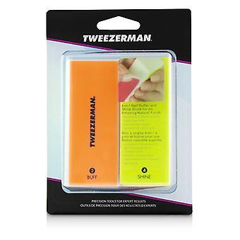 Tweezerman Neon Hot 4 In 1 File Buff Smooth & Shine Block - -