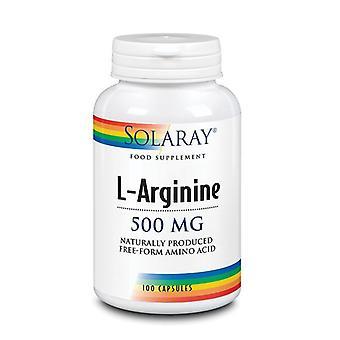 Solaray L-Arginine 500mg Capsules 100 (14063)