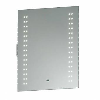 Bathroom Wall Light Silver Ip44 With Mirrored Glass