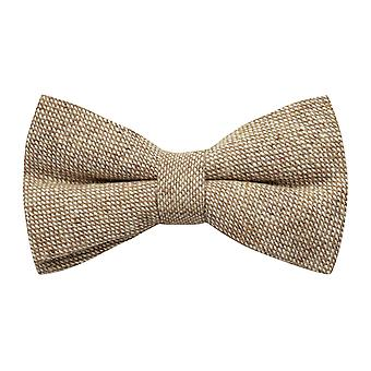 Highland Weave Stonewashed Light Brown Bow Tie