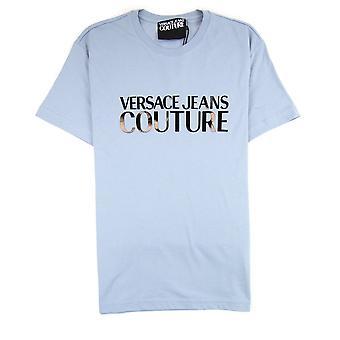Versace Jeans Couture Logo Cotton T-shirt Light Blue