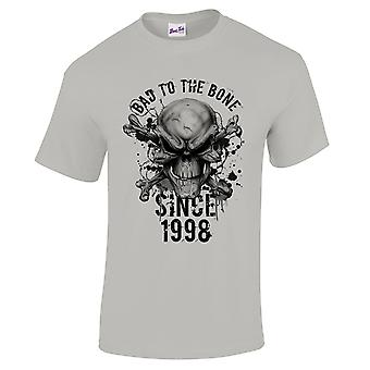 Men's 21st Birthday T-Shirt Bad To The Bone 1998 Gifts For Him