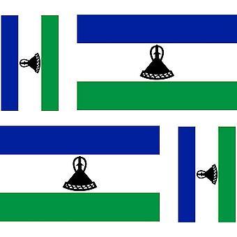 4 X Autocollant Sticker Voiture Moto Valise Pc Portable Drapeau Lesotho Sotho Le