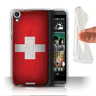 STUFF4 Gel/TPU Case/Cover for HTC Desire 820s Dual/Switzerland/Swiss/Flags