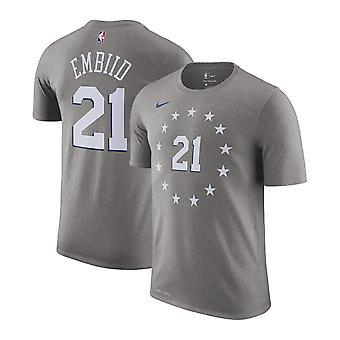 Nike Nba Philadelphia 76ers Joel Embiid City Edition Name & Number Youth T-shirt