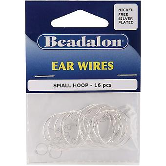 Ear Wire Beading Hoops Small 20Mm 16 Pkg Silver Plated Nickel Free 308B 100